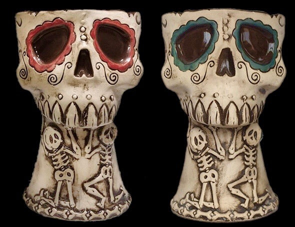 Sugar Skull Tiki Mug by Day of the Dead Artist David Lozeau, Dia de los Muertos, Muertos, Sugar Skull