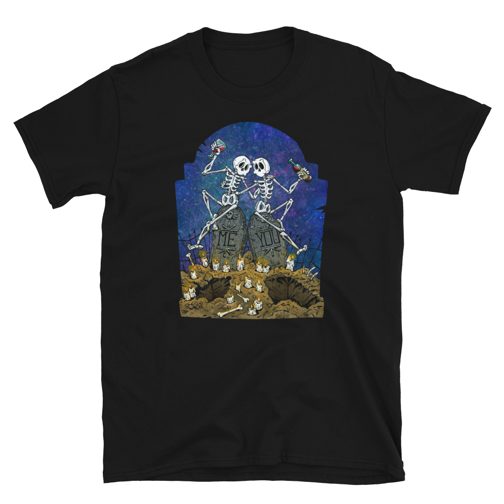 Me and You Shirt by Day of the Dead Artist David Lozeau, Day of the Dead Art, Dia de los Muertos Art, Dia de los Muertos Artist
