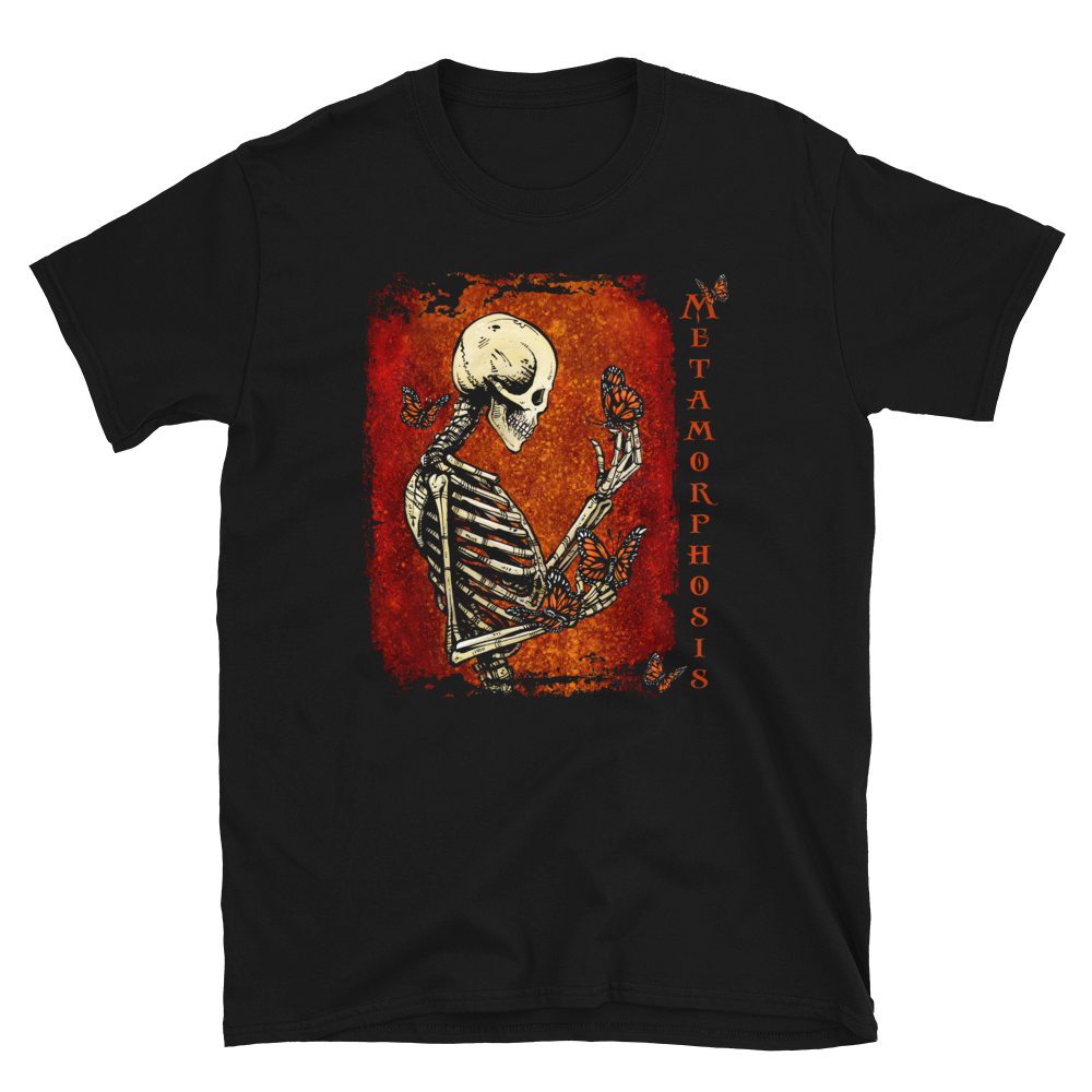 Metamorphosis Shirt by Day of the Dead Artist David Lozeau, Day of the Dead Art, Dia de los Muertos Art, Dia de los Muertos Artist