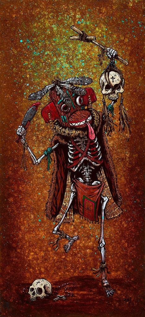 Day of the Dead Artist David Lozeau, Dia de los Muertos, Muertos, Sugar Skull, Calavera, Priest Killer Kachina