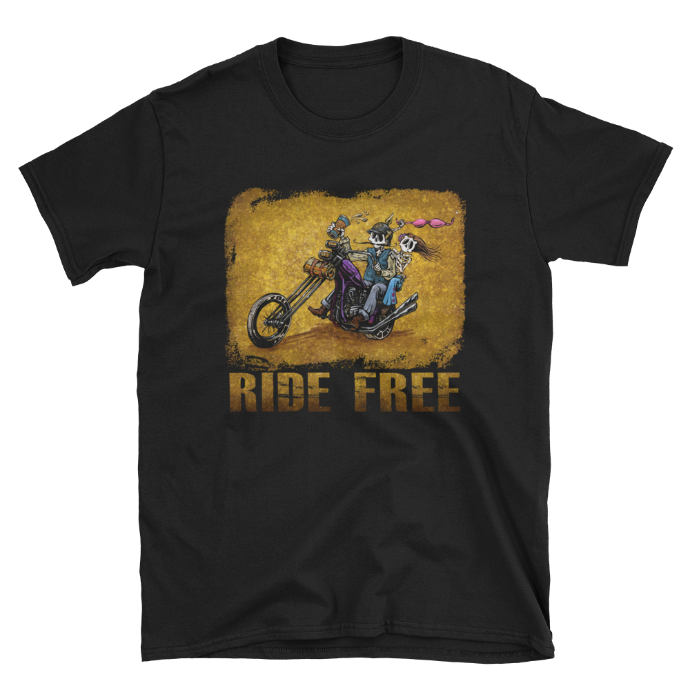 Ride Free Shirt by Day of the Dead Artist David Lozeau, Dia de los Muertos, Muertos, Sugar Skull