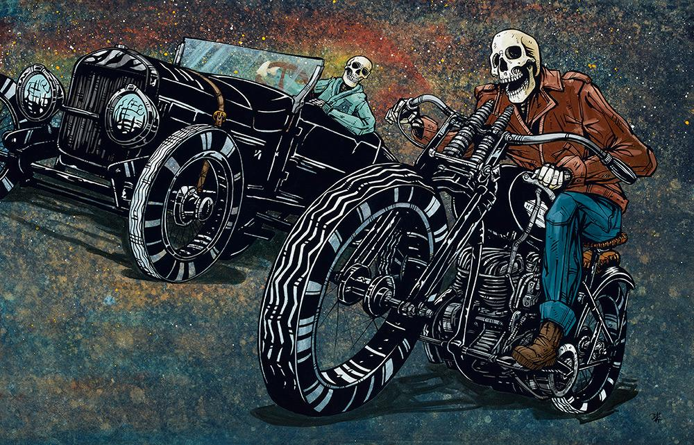 Suicide Shifter by Day of the Dead Artist David Lozeau, Dia de los Muertos, Muertos, Sugar Skull