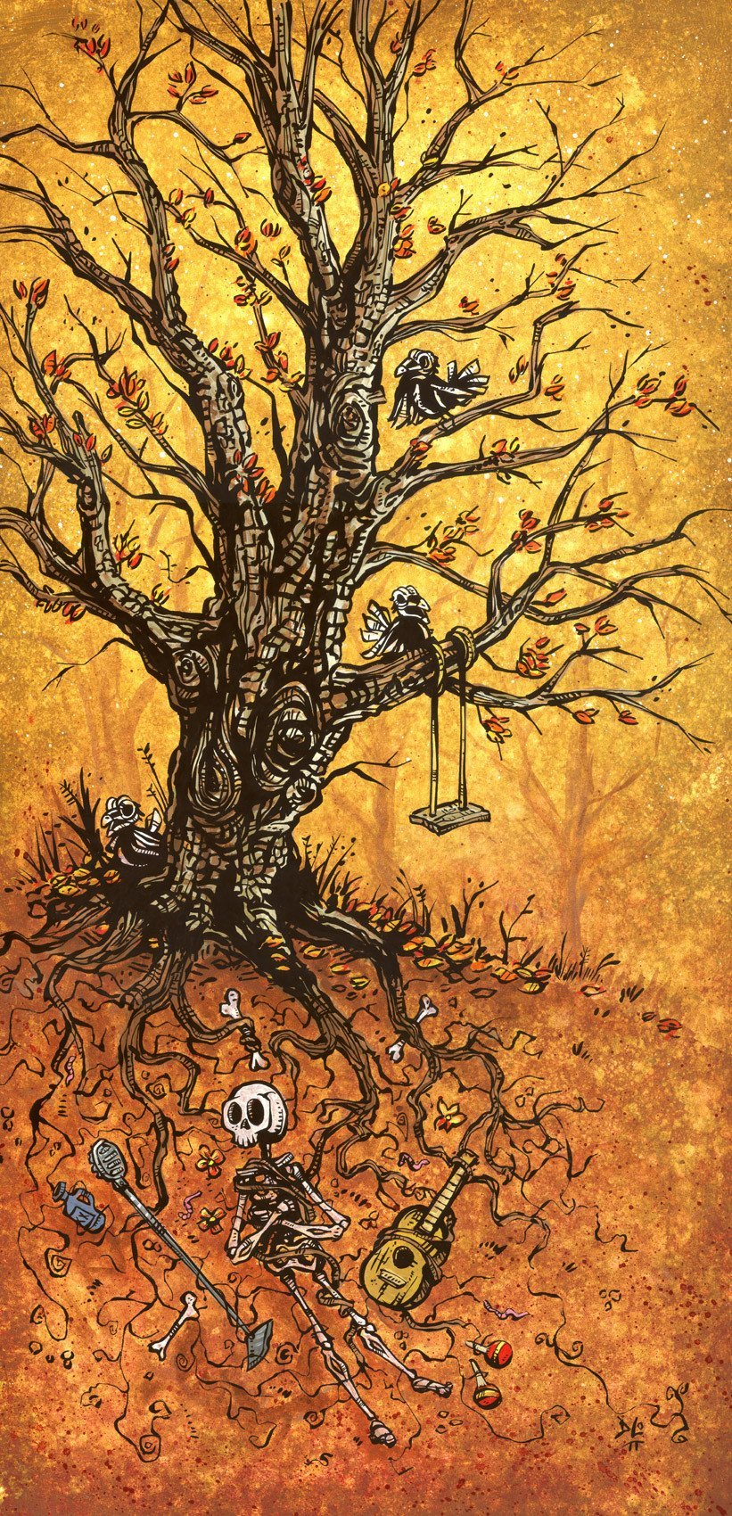 Tree of Life by Day of the Dead Artist David Lozeau, Dia de los Muertos, Muertos, Sugar Skull