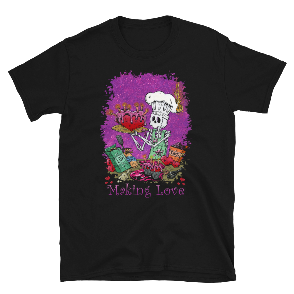 Making Love Shirt by Day of the Dead Artist David Lozeau, Day of the Dead Art, Dia de los Muertos Art, Dia de los Muertos Artist