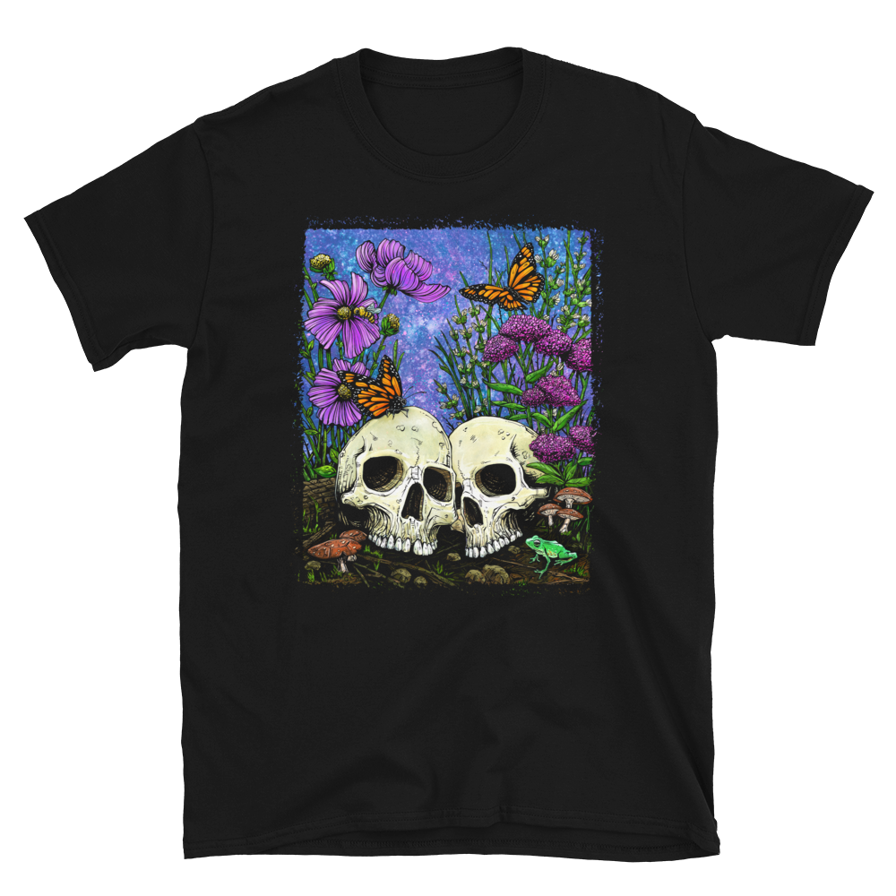 Together Forever Shirt by Day of the Dead Artist David Lozeau, Day of the Dead Art, Dia de los Muertos Art, Dia de los Muertos Artist
