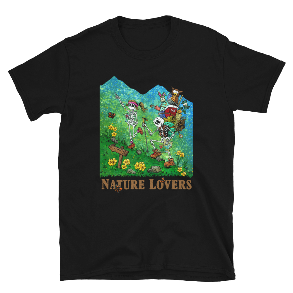 Nature Lovers Shirt by Day of the Dead Artist David Lozeau, Day of the Dead Art, Dia de los Muertos Art, Dia de los Muertos Artist