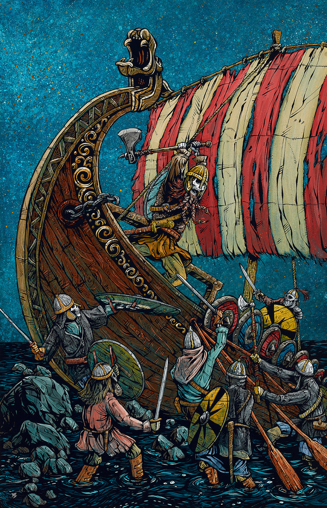 Viking Raid - Day of the Dead Artist David Lozeau