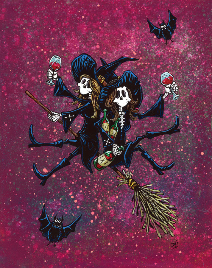Spells and Spirits by Day of the Dead Artist David Lozeau, Day of the Dead Art, Dia de los Muertos Art, Dia de los Muertos Artist