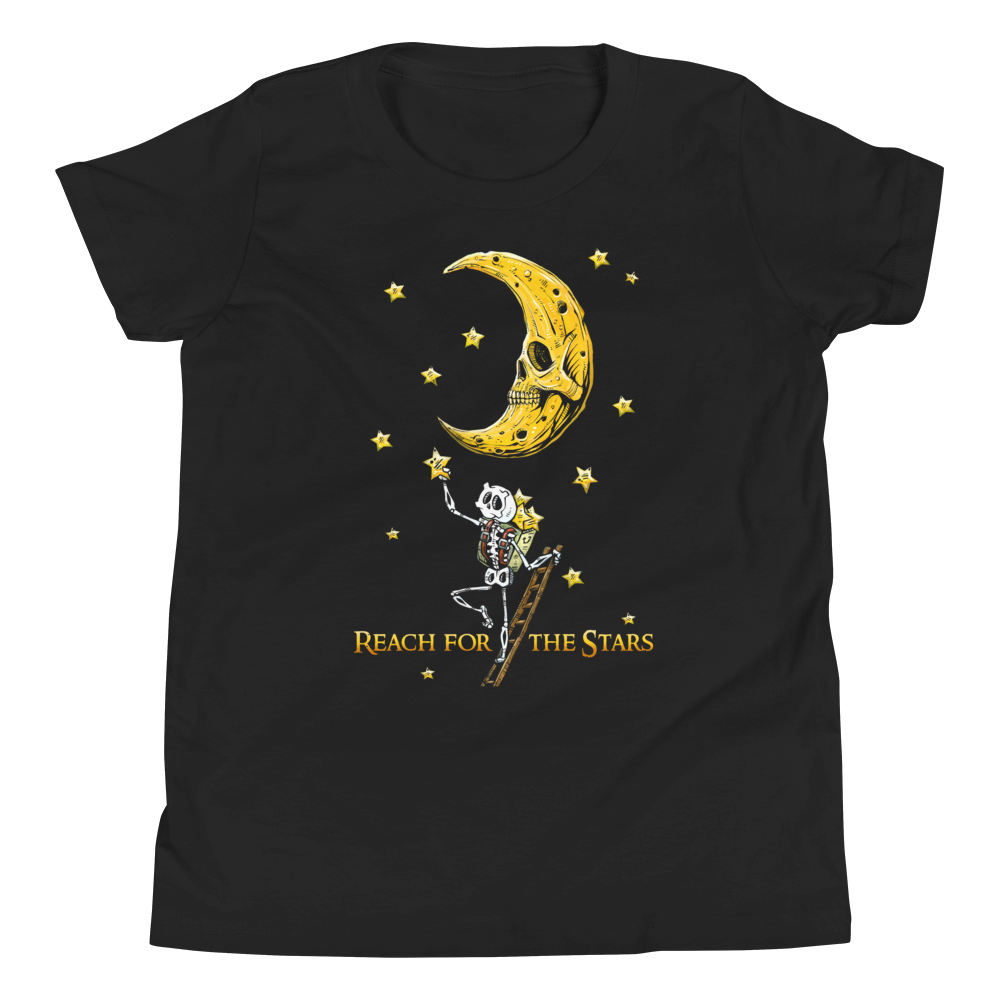 Reach for the Stars Shirt by Day of the Dead Artist David Lozeau, Day of the Dead Art, Dia de los Muertos Art, Dia de los Muertos Artist