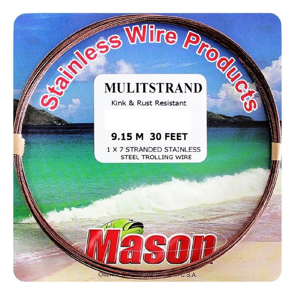 MASON MULTISTRAND 7 STRANDED STAINLESS STEEL TROLLING WIRE