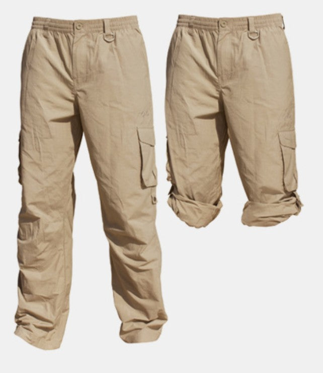 SUN PROTECTION CARGO PANTS - STONE
