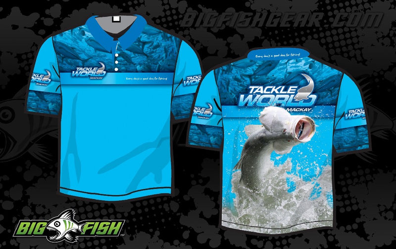 TACKLE WORLD BARRA SHORT SLEEVED SUN SHIRT