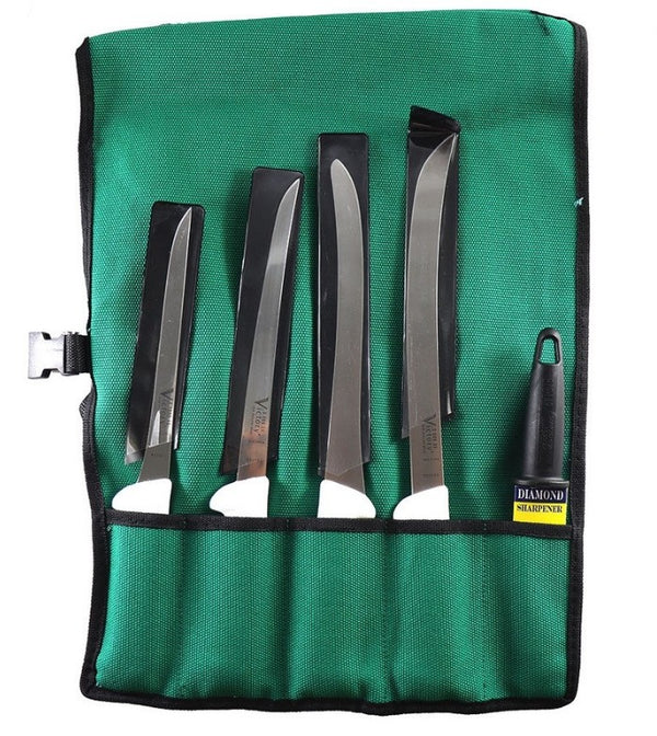 VICTORY KNIFE ROLL FILLETING SET WITH DIAMOND STEEL