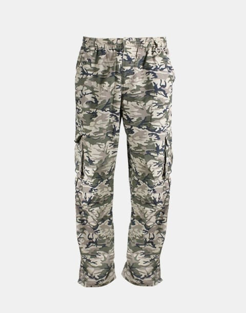 SUN PROTECTION CARGO PANTS - SAND CAMO