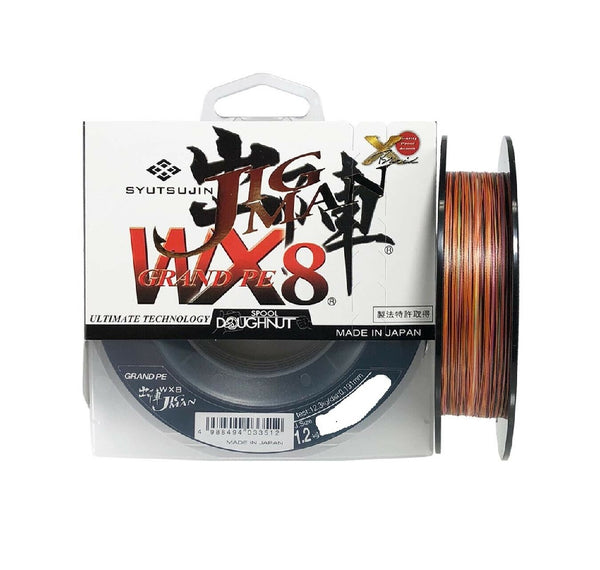 SYUTSUJIN JIG MAN GRAND PE WX8 BRAID - MULTI COLOUR