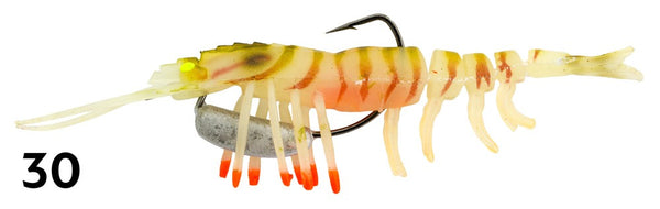 "ZEREK SHRIMP HOT LEGS 4"" LURES"