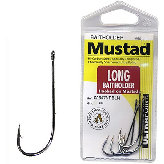 MUSTAD LONG BAITHOLDER ULTRA POINT HOOKS