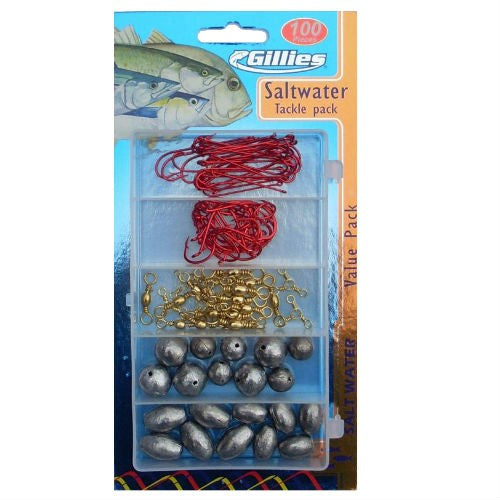 GILLIES SALTWATER TACKLE PACK 100 PCE