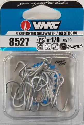 VMC 8527 FISHFIGHTER SALTWATER 6X STRONG TREBLE HOOKS