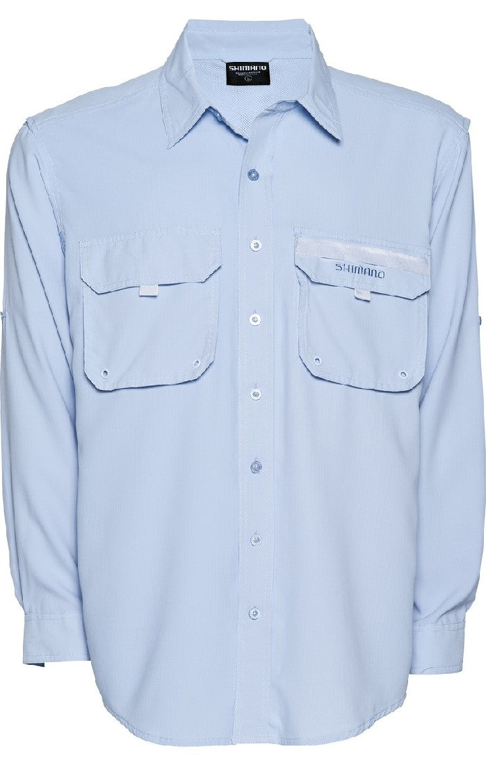 SHIMANO VENTED LONG SLEEVED FISHING SUN SHIRT - SKY BLUE