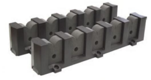 BLA ROD HOLDER HORIZONTAL 5 RODS
