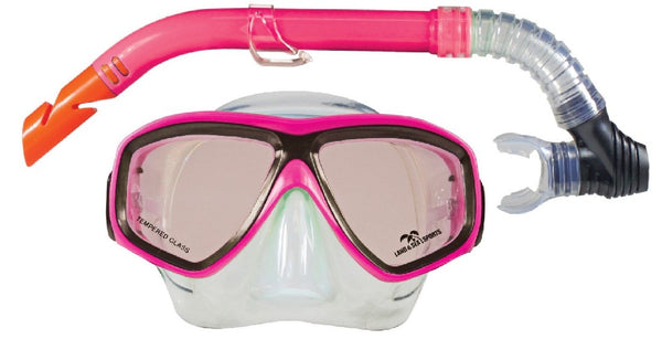 LAND &SEA CLEARWATER SILICONE MASK & SNORKEL SET