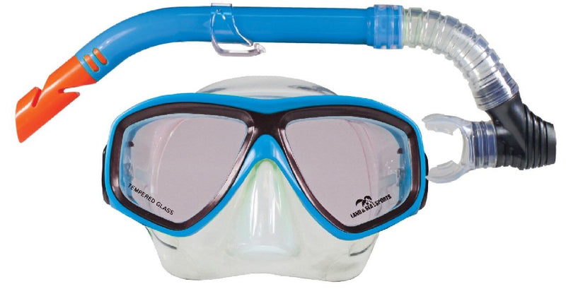LAND & SEA CLEARWATER SILICONE MASK & SNORKEL SET
