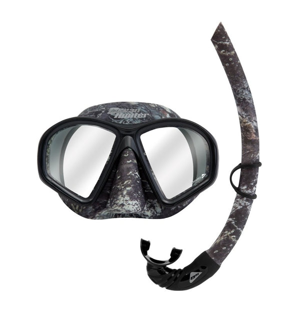OCEAN HUNTER PHANTOM CAMO MASK AND SNORKEL SET
