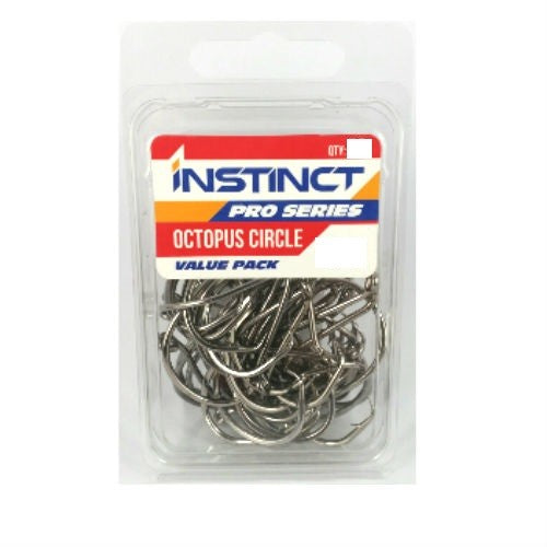 INSTINCT PRO SERIES OCTOPUS CIRCLE HOOKS - VALUE PACK