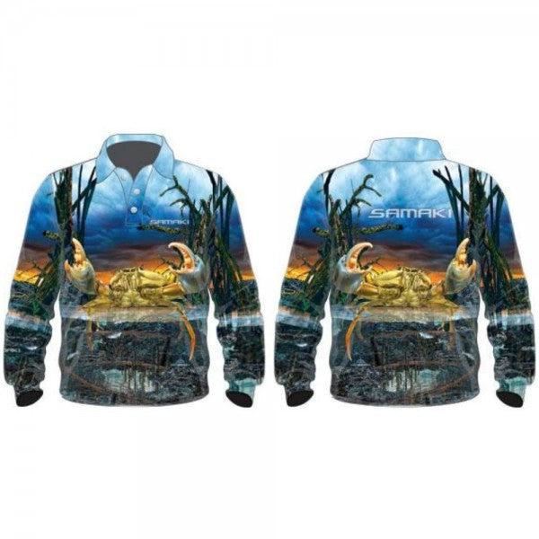 SAMAKI MUD CRAB LONG SLEEVED FISHING SHIRT