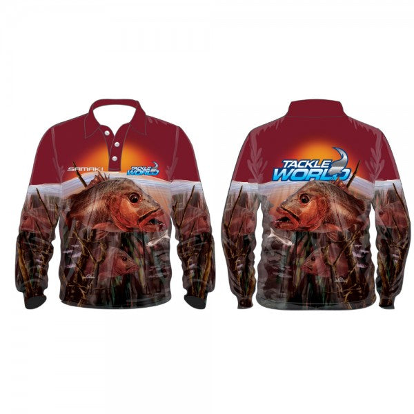SAMAKI TACKLE WORLD JACK LONG SLEEVED FISHING SHIRT