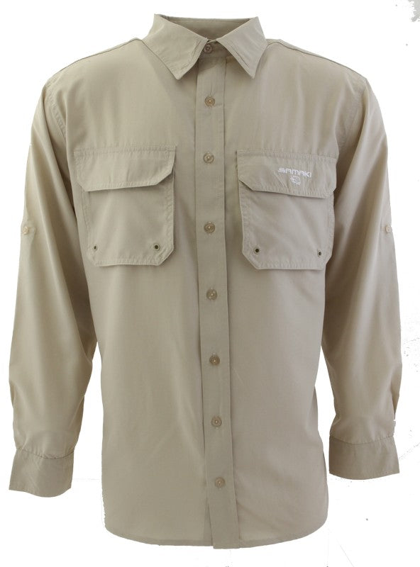 SAMAKI BREEZE VENTED SUN SHIRT - BONE