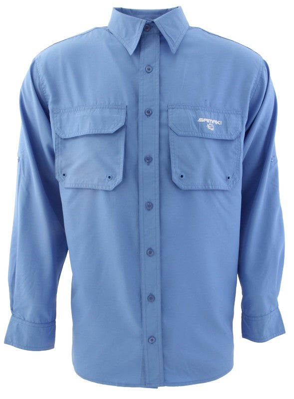SAMAKI BREEZE VENTED SUN SHIRT - PACIFIC BLUE