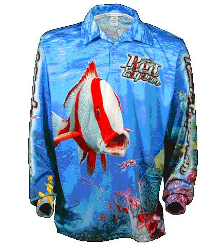 BIGFISH RED EMPORER LONG SLEEVED FISHING SHIRT