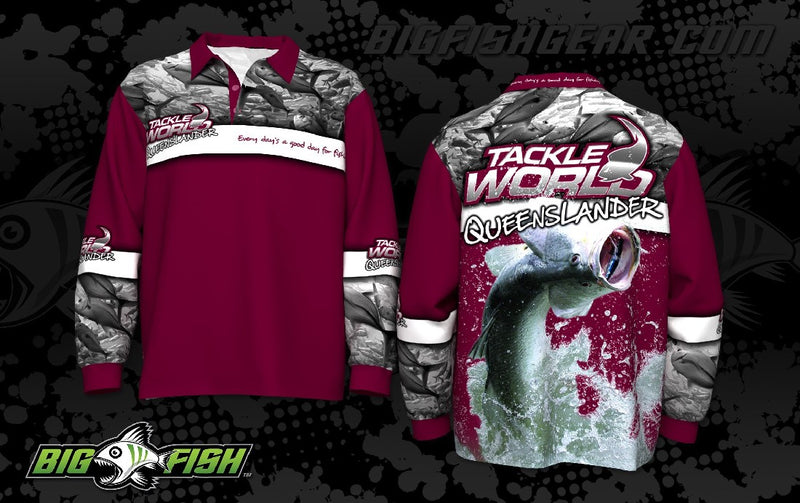 TACKLE WORLD QUEENSLANDER LONG SLEEVED SUN SHIRT