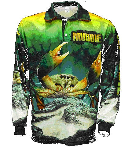BIGFISH MUD CRAB LONG SLEEVED FISHING SHIRT