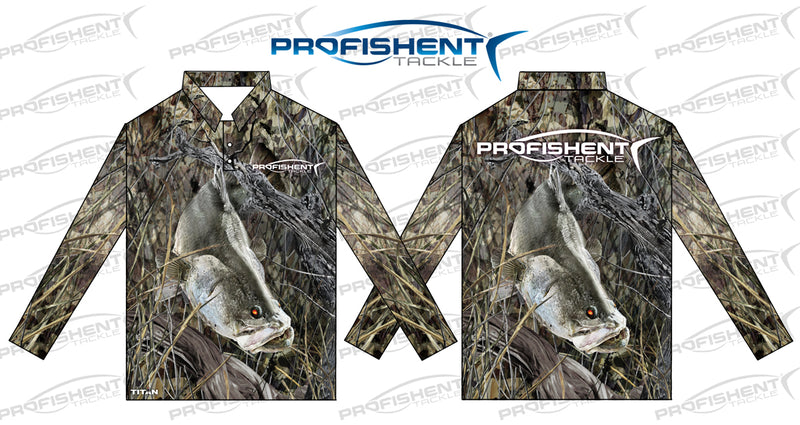 PROFISHENT SUMBLIMNATED LONG SLEEVED CAMO BARRA SHIRT