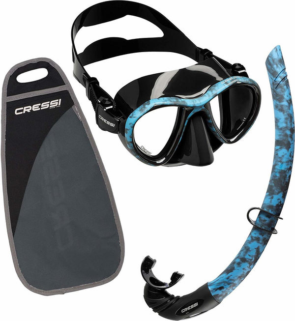 CRESSI METIS/FREE COMBO BLUE HUNTER
