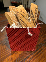 holiday cookies, biscotti, gingerbread, chocolate peppermint bark, pumpkin flavored