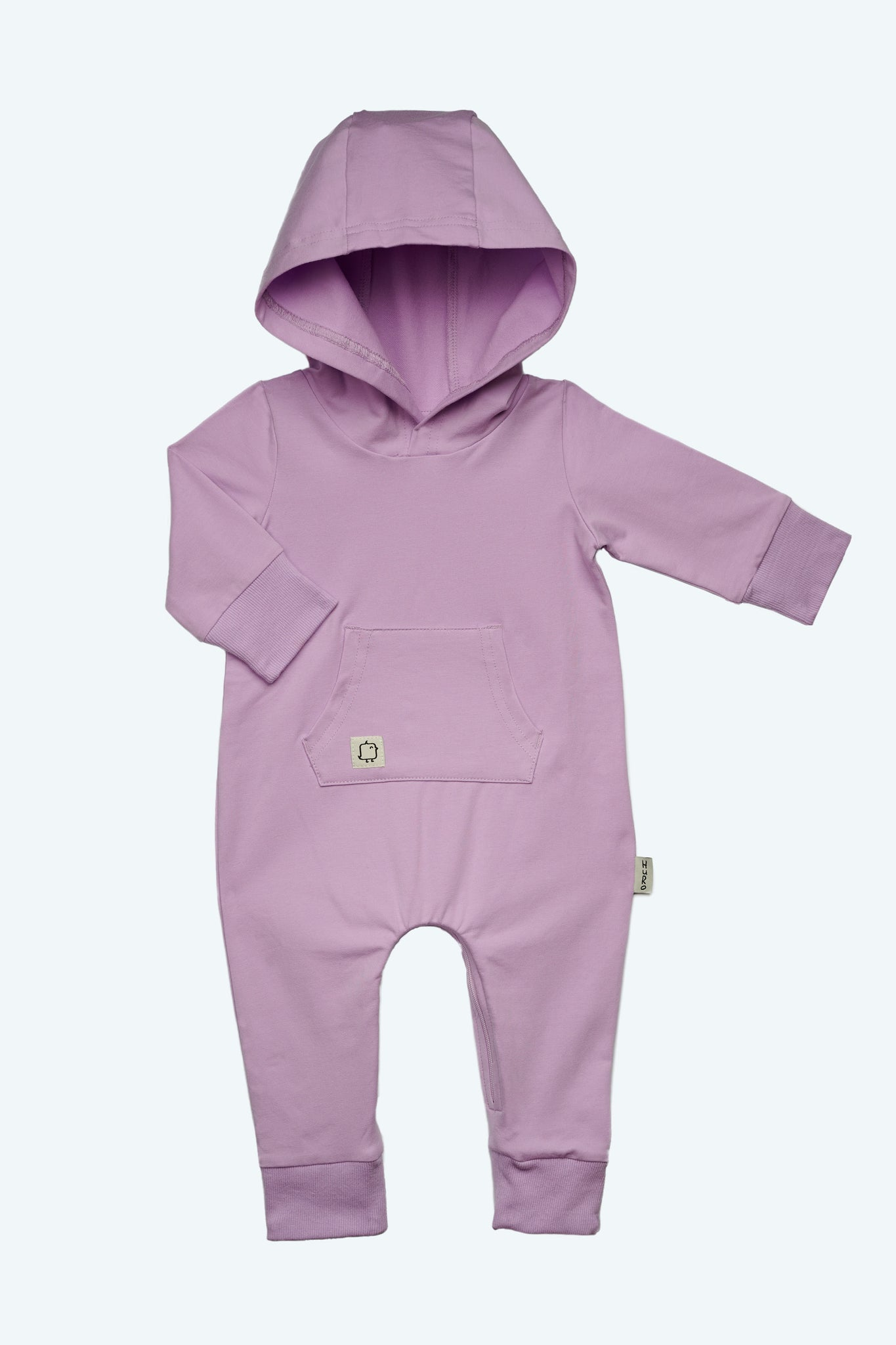 Hooded Romper- Lilac - HuRo Kids Clothing