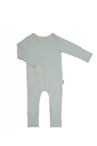 Perfect Onesies Sky, Leg to leg Zipper Rompers. Bamboo Baby