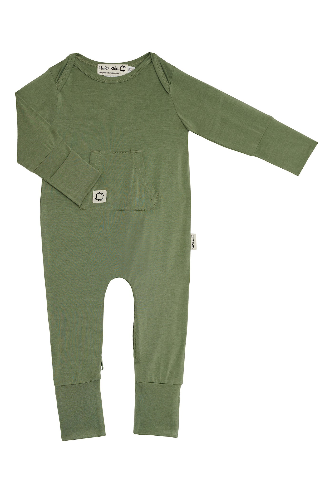 New Perfect Onesies - Sage - HuRo Kids Clothing