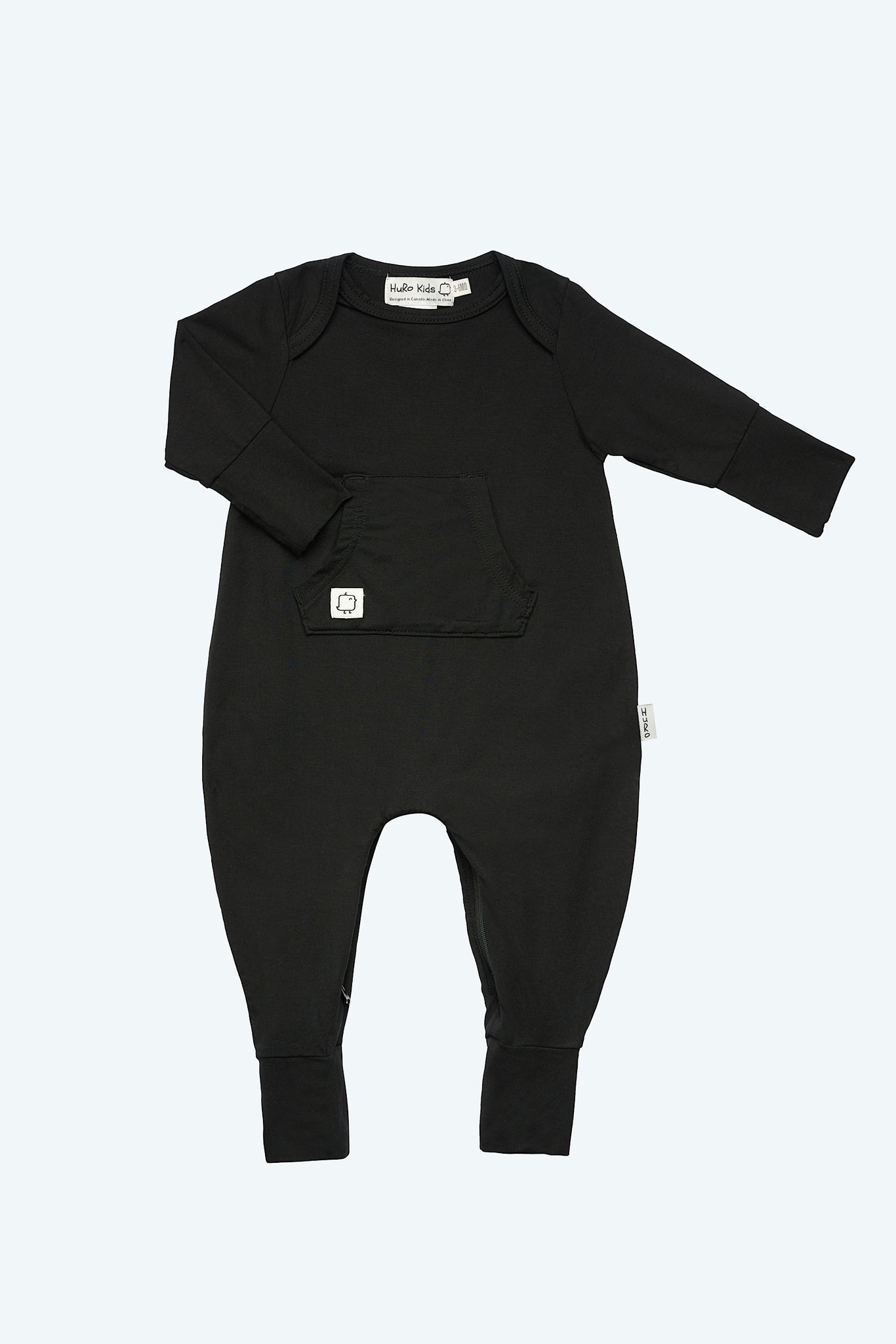 Perfect Onesie - Black - HuRo Kids Clothing