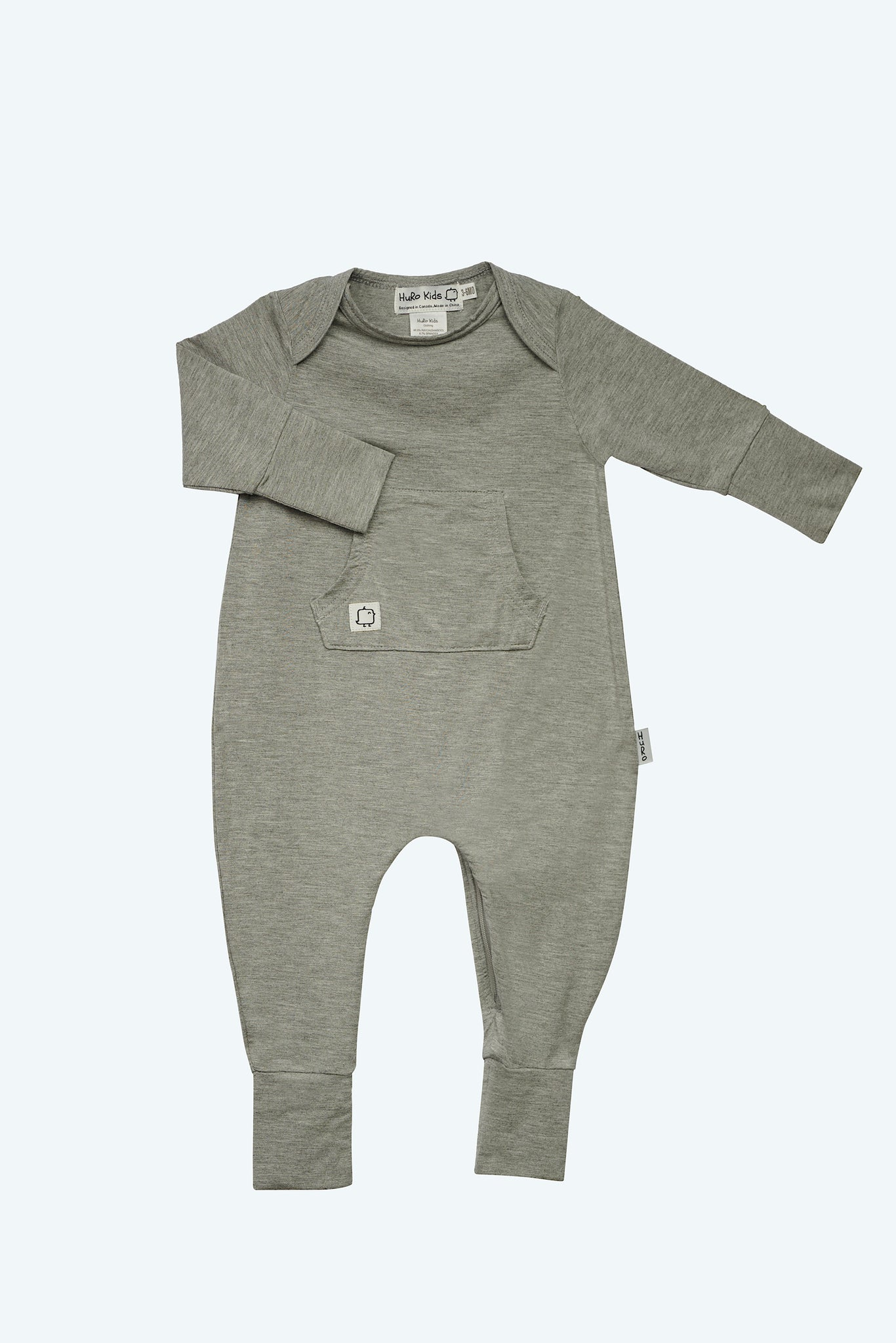 Perfect Onesie -Grey - HuRo Kids Clothing