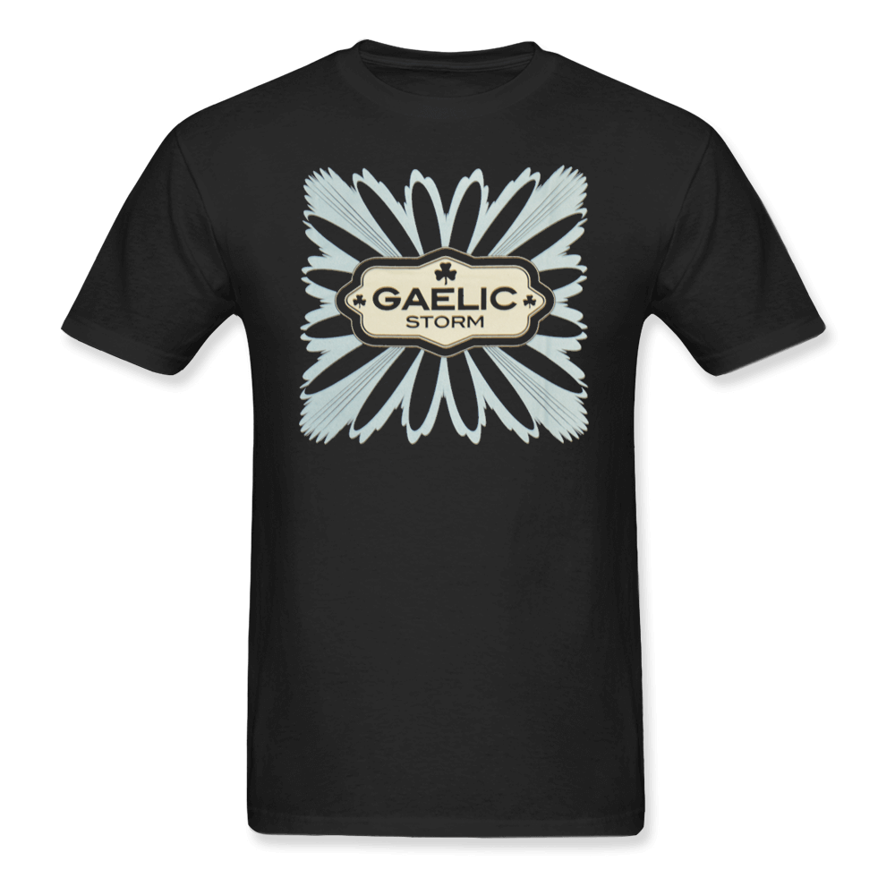 Black/Teal Flower Tee