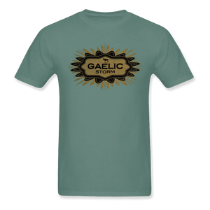 Mint Green with Small Flower and Donkey in Logo Tee