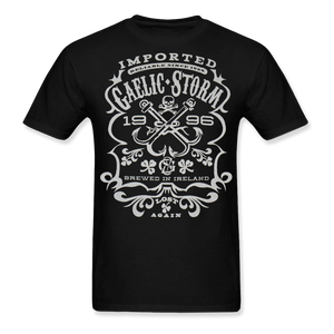 Mens Black Whiskey Tee