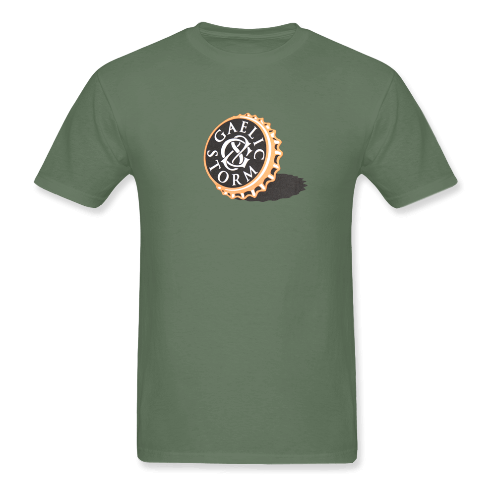 Gaelic Storm Bottle Cap Tee - Olive Green