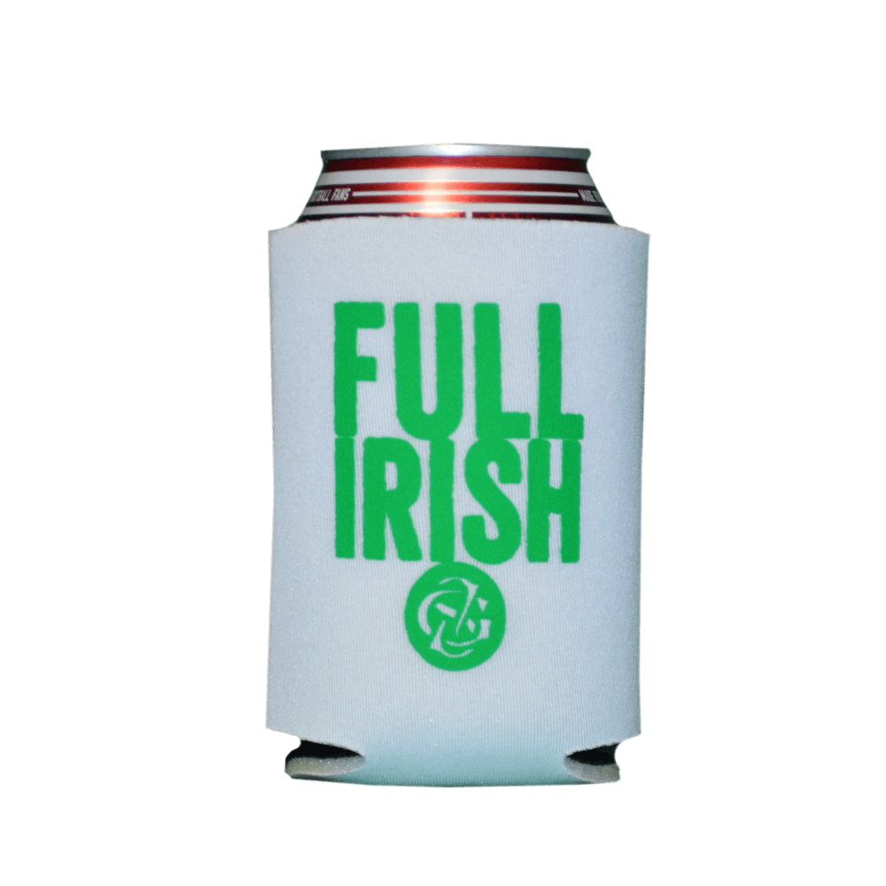 White Gaelic Storm Full Irish Drink Koozie