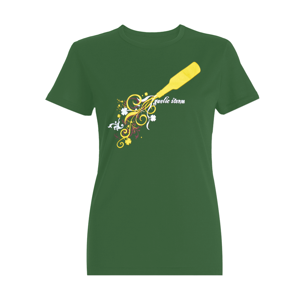 Ladies Bottle Spill Tee - Green